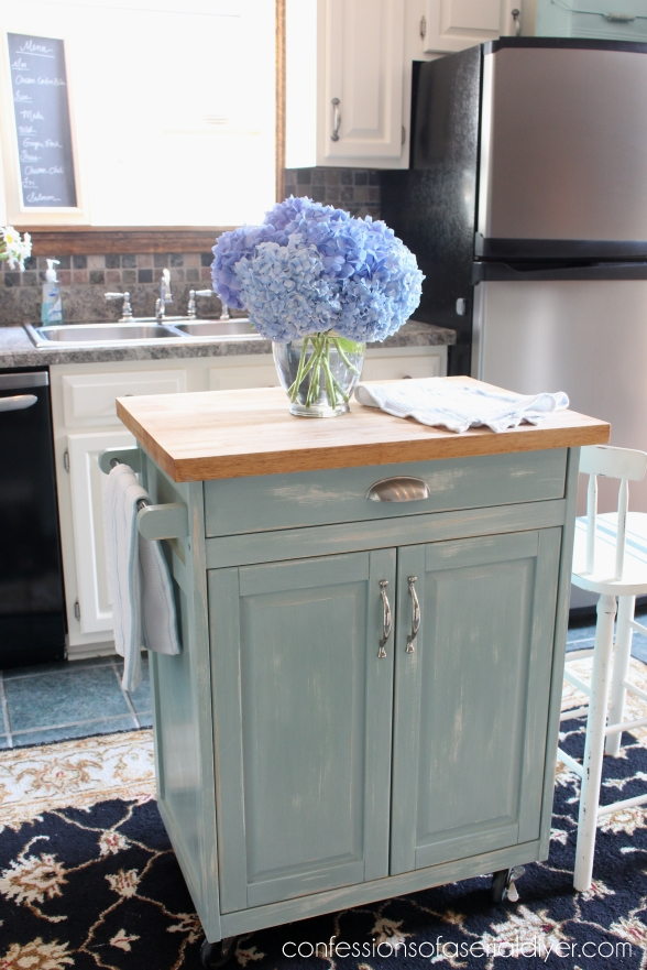 Kitchen cart makeover