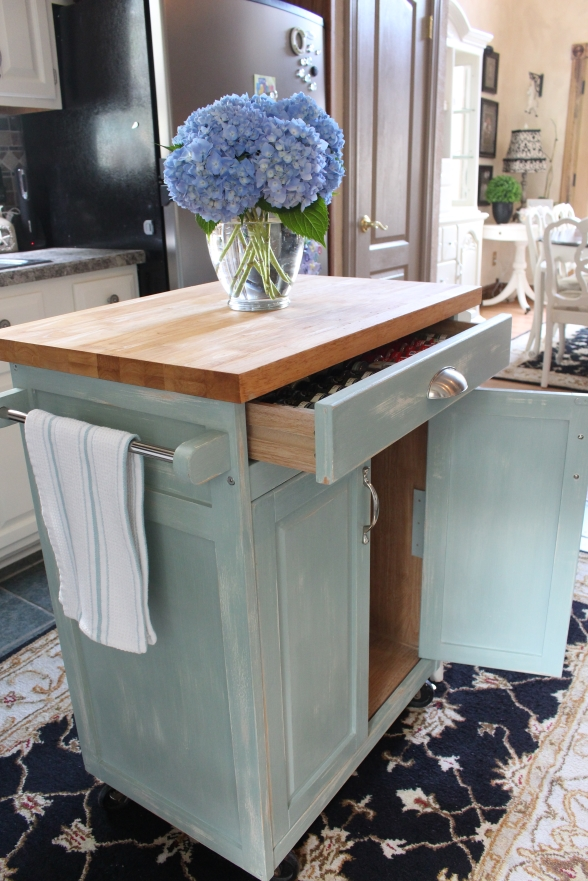 Rolling Kitchen Cart Makeover Confessions Of A Serial Do