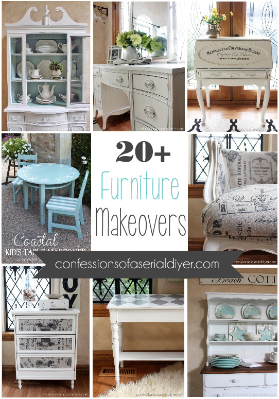 20+ Furniture Makeovers from Confessions of a Serial Do-it-Yourselfer
