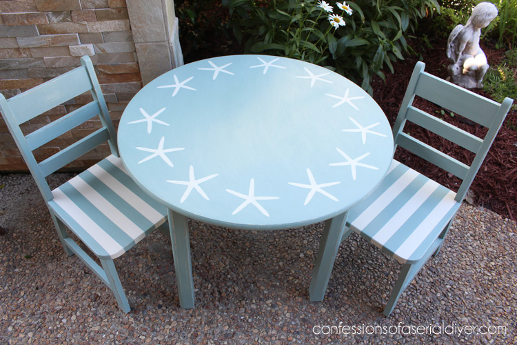 Coastal Inspired Kids Table