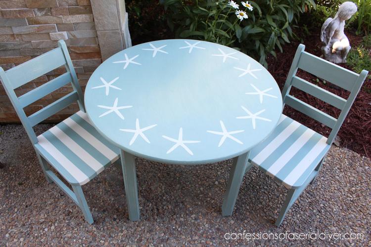 Coastal Inspired Kids Table