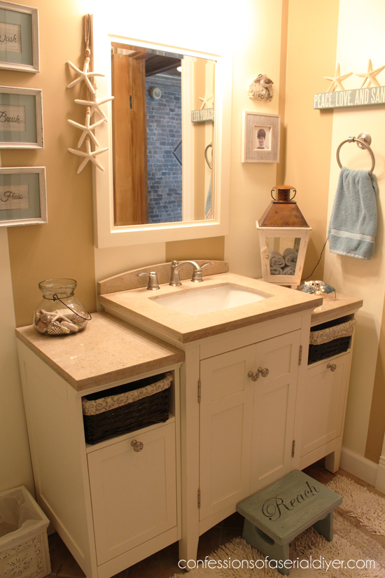 Beachy Bathroom Makeover 19