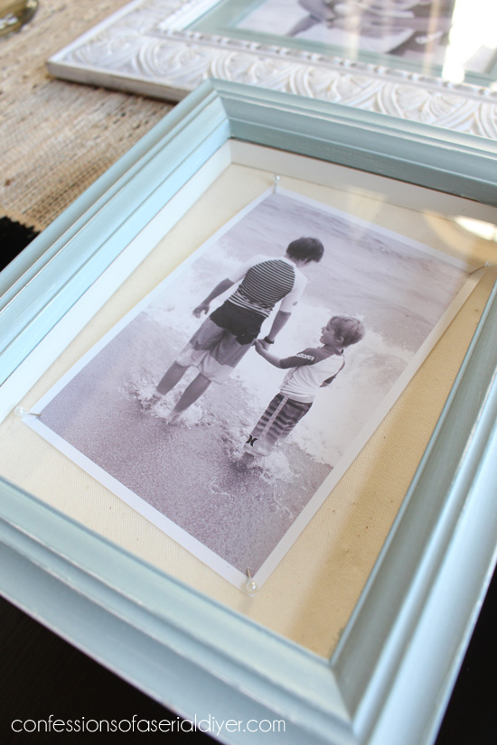 Bathroom Art Created with Thrift Store Frames