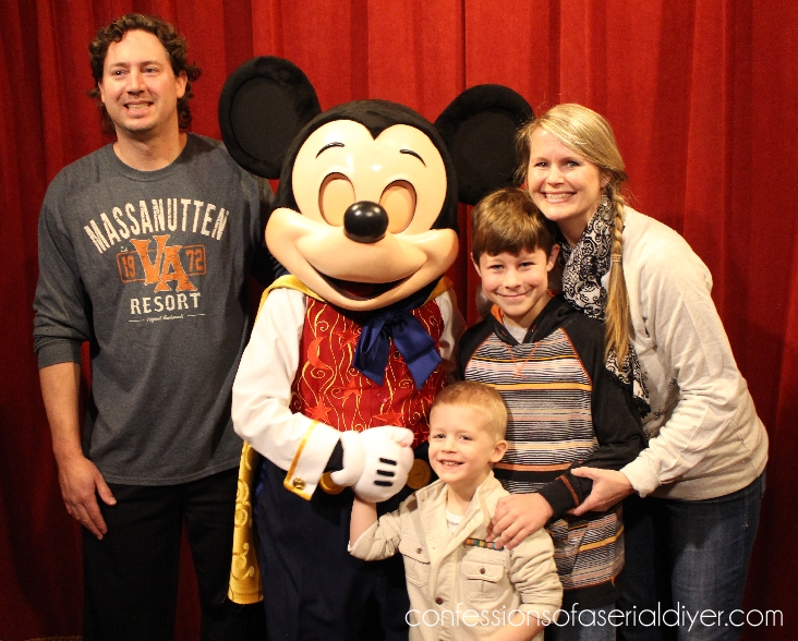 Family pic with creepy Mickey