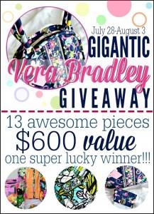 $600 Vera Bradley Giveaway!!