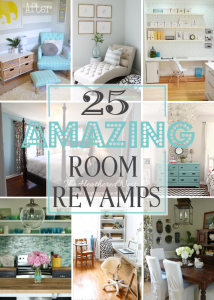 25 Amazing Room Revamps {Get Your DIY On Features!}