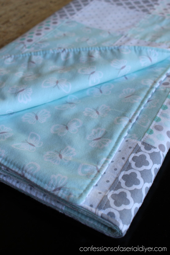 81312cb5ffe6c How to Make a Baby Quilt from Receiving Blankets | Confessions of a ...