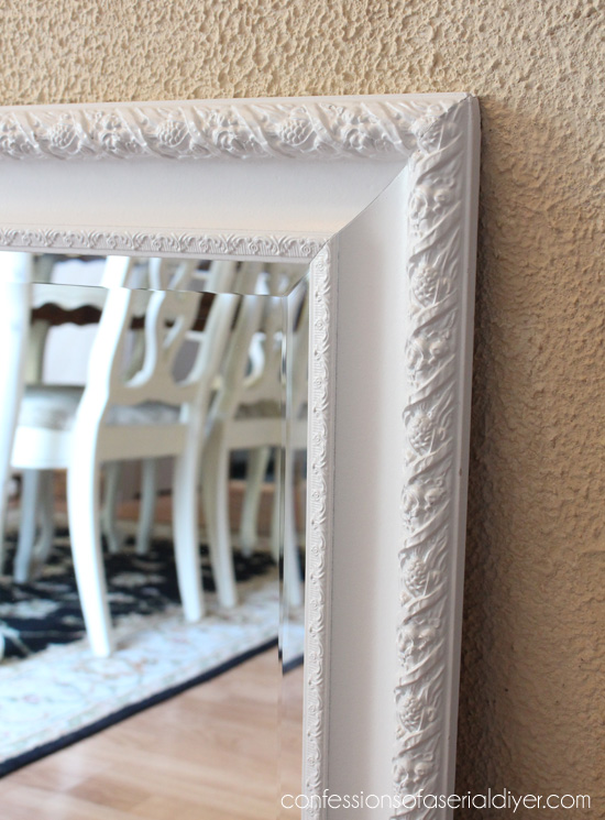 White Painted Mirror