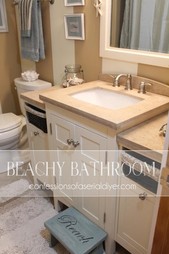 Beach Inspired Bathroom Makeover