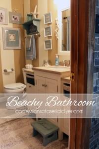 Beachy Bathroom Makeover