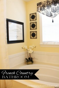French Country Bathroom Refresh {or Home of the New Framed French Graphic: My Parent's Loo}