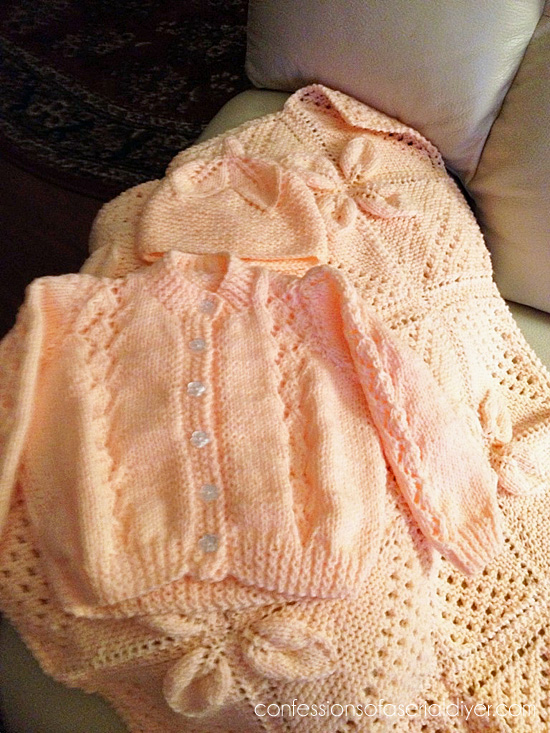 Hand-Knitted Sweater Set