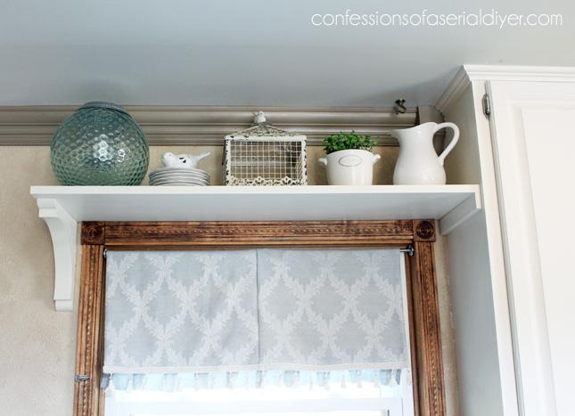 Add a shelf above a window