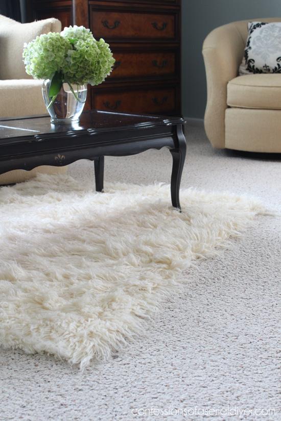 Flokati rug thrifty find