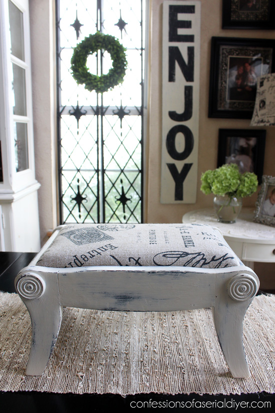 Antique Mini Bench Makeover