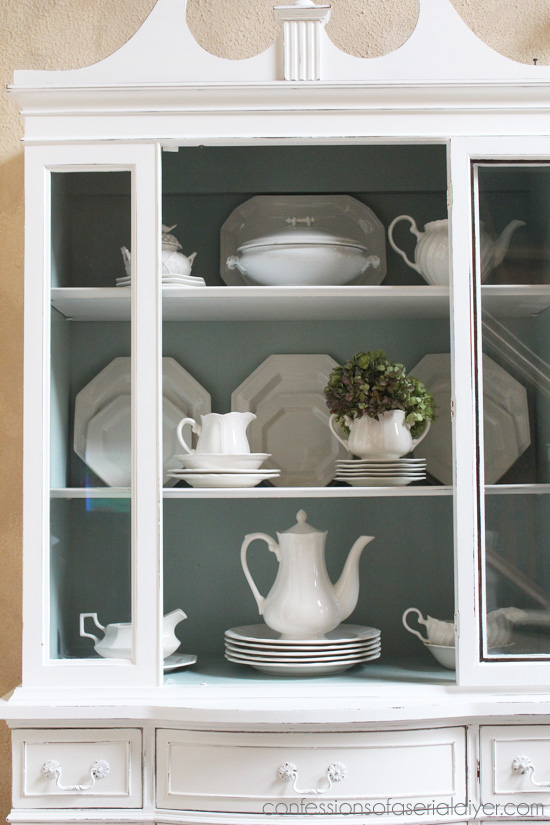 Duck Egg Blue And White China Cabinet Confessions Of A