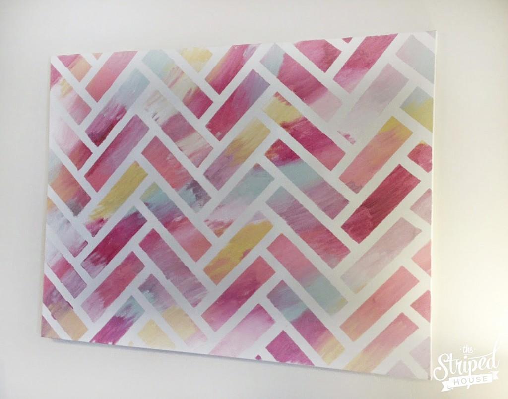 Finished-Herringbone-Painting---with-watermark