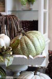 Decoupaged Pumpkin