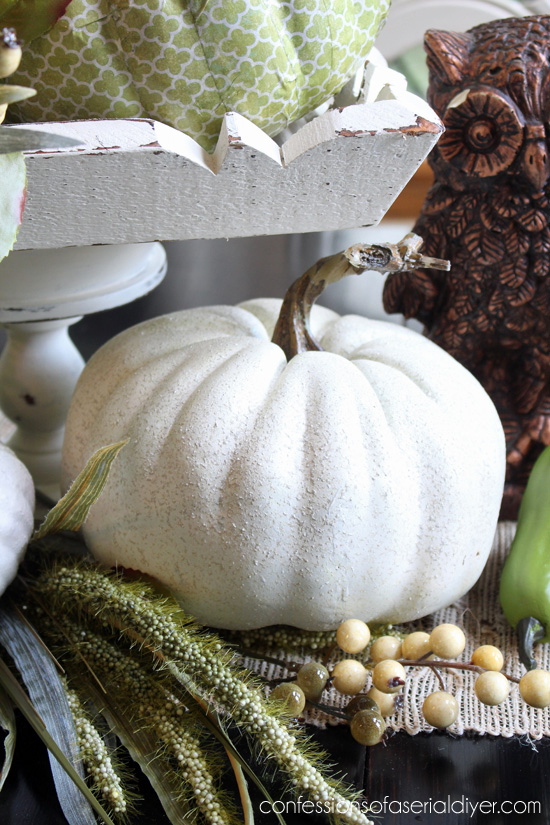 Pumpkin painted with stone textured spray paint