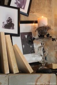 Pottery Barn Inspired Halloween Mantel