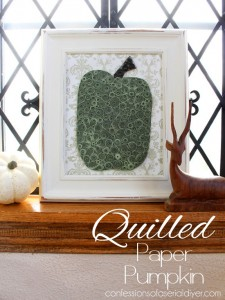Quilled Paper Pumpkin {& $500 in Visa Gift Cards Fall Giveaway!!}