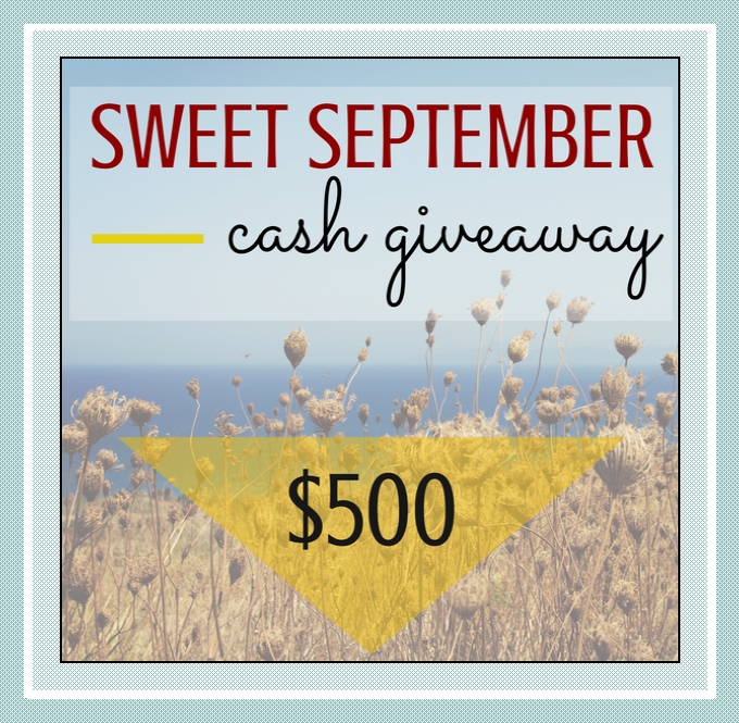 Sweet September Cash Giveaway 1