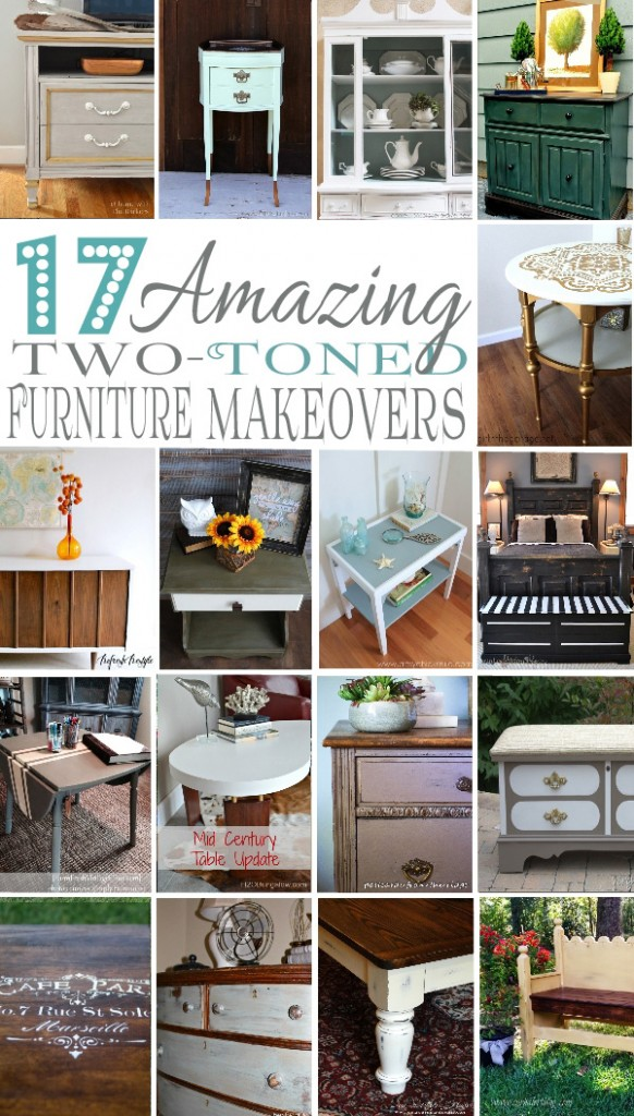 Amazing Round-up of Two-Toned Furniture Makovers