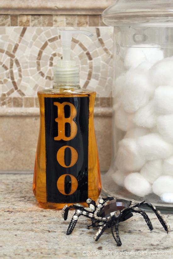 Simple Halloween Soap Dispenser