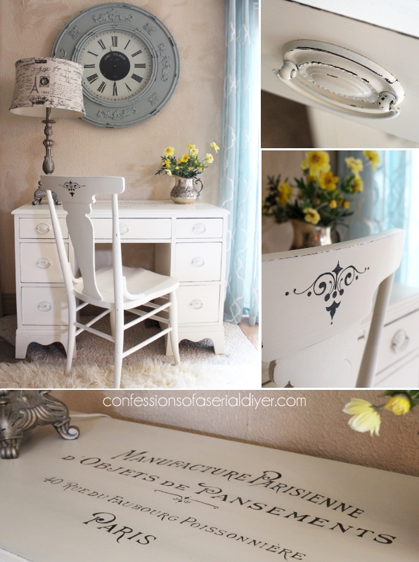 Desk with French Graphics