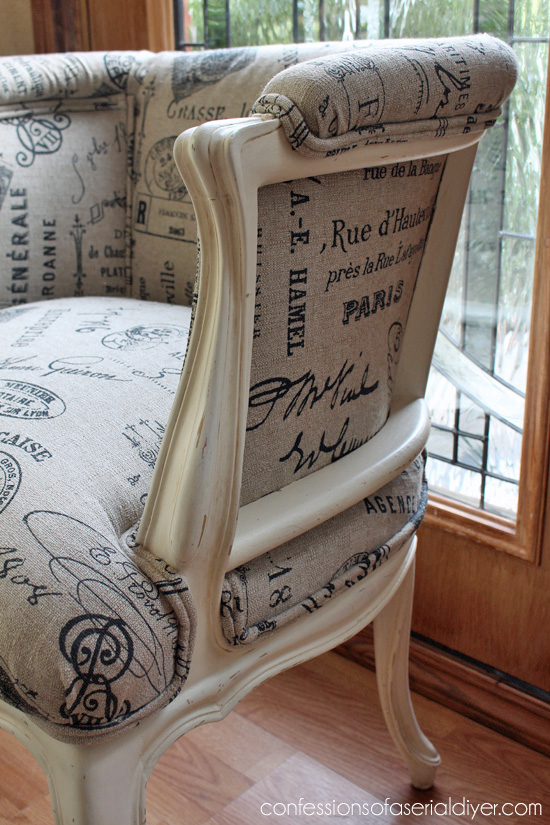 Reupholstering French Provincial Chairs