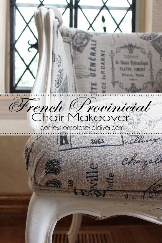 Reupholstering a French Provincial Chair