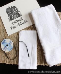 DIY Halloween Hand Towels