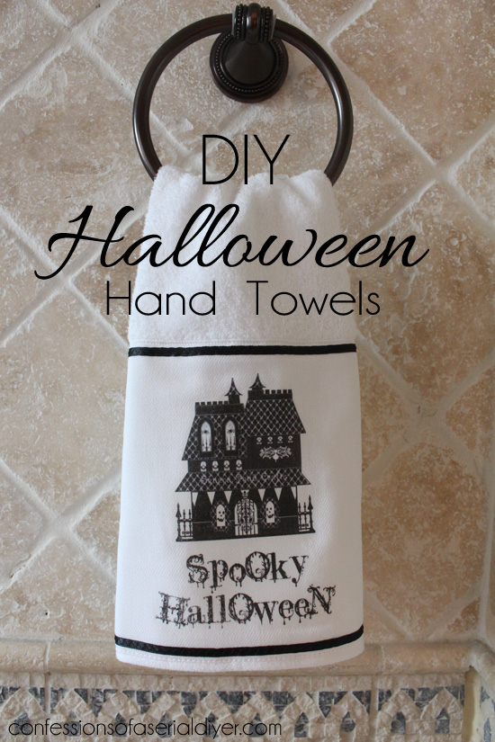 DIY Halloween Hand Towels