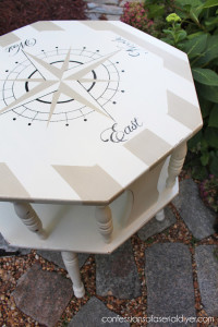 Nautical Compass Table {Thrifting Can Benefit Animals too!}