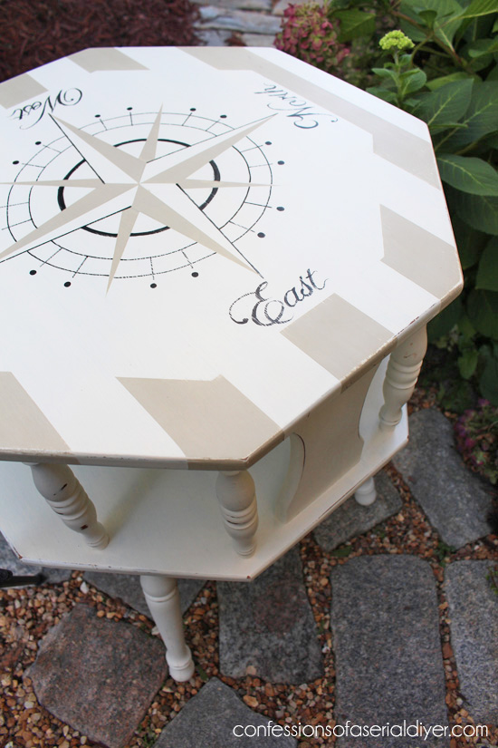Nautical Compass Table Thrifting Can Benefit Animals Too