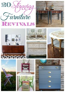20 Stunning Furniture Revivals {Get Your DIY On Features}