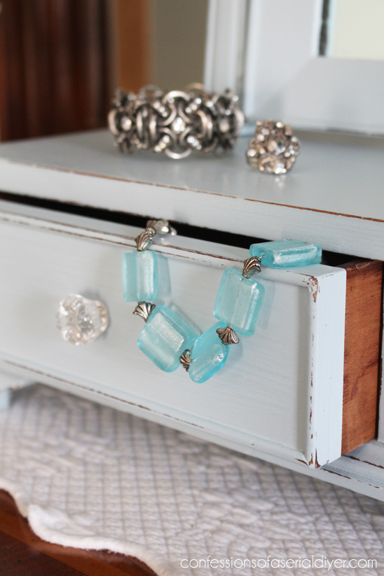 Antique Mini Chest with Mirror Makeover