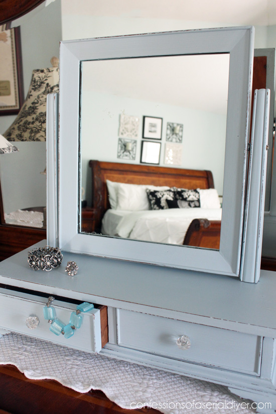 Antique Mini-Chest withMirror Makeover