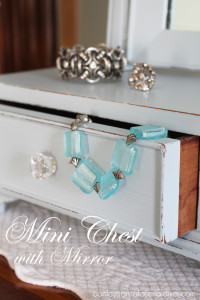 $5 Mini-Chest with Mirror Makeover