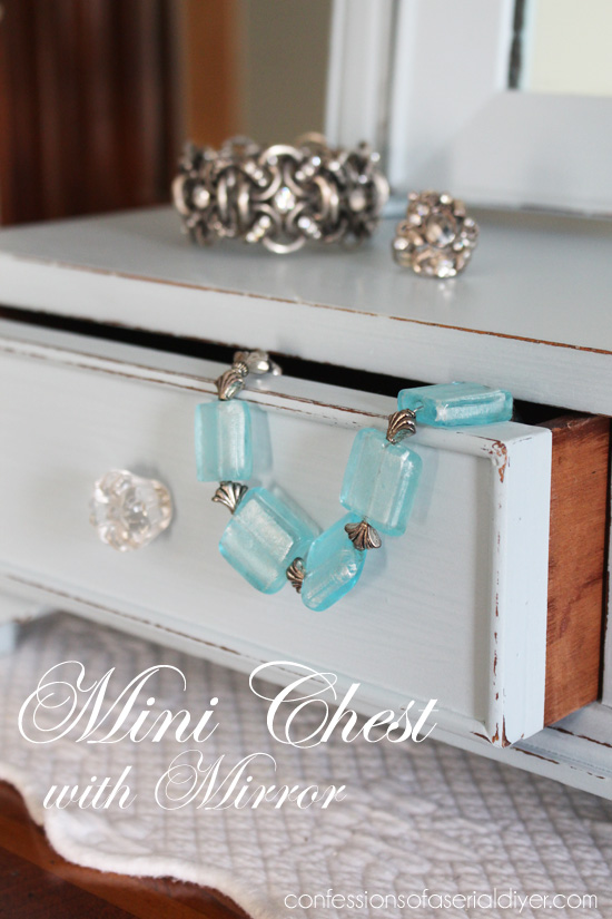 Mini Chest with Mirror makeover