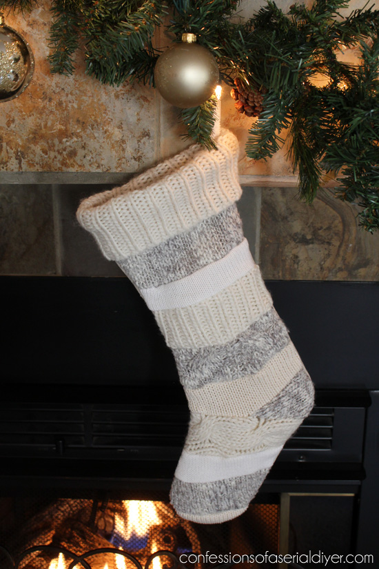 Sweater Stockings made from old sweaters.
