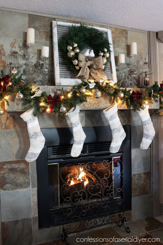 A New Christmas Wreath And Mantel Confessions Of A Serial Do It