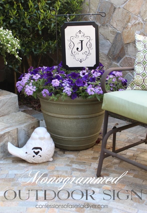 Monogrammed Outdoor Plaque. A great alternative to a flag!