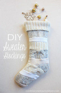 DIY Sweater Stockings {Anthropologie-Inspired}
