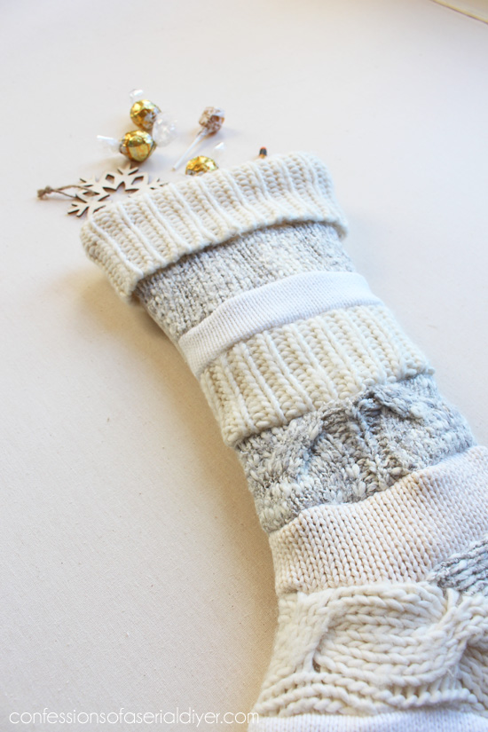Sweater stocking tutorial