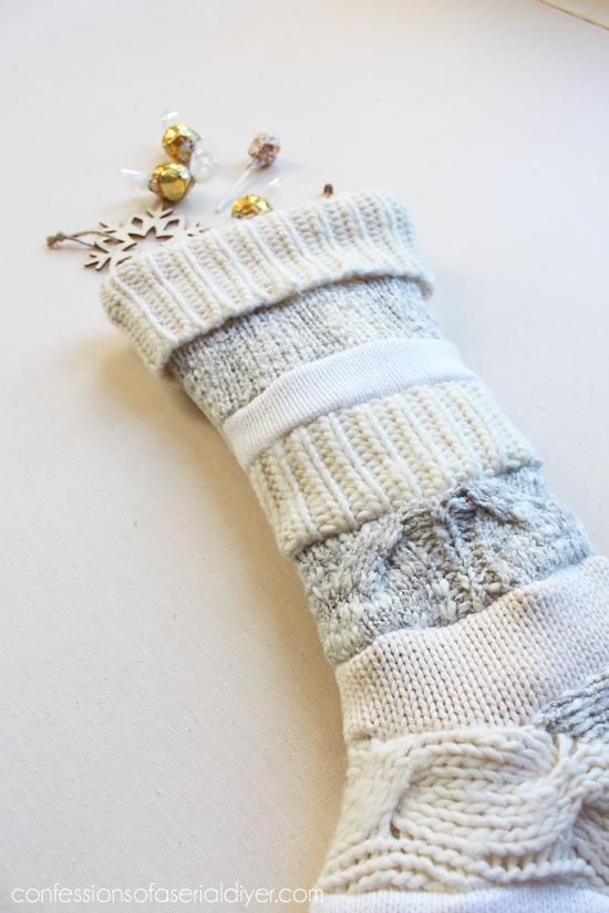 Sweater stocking tutorial