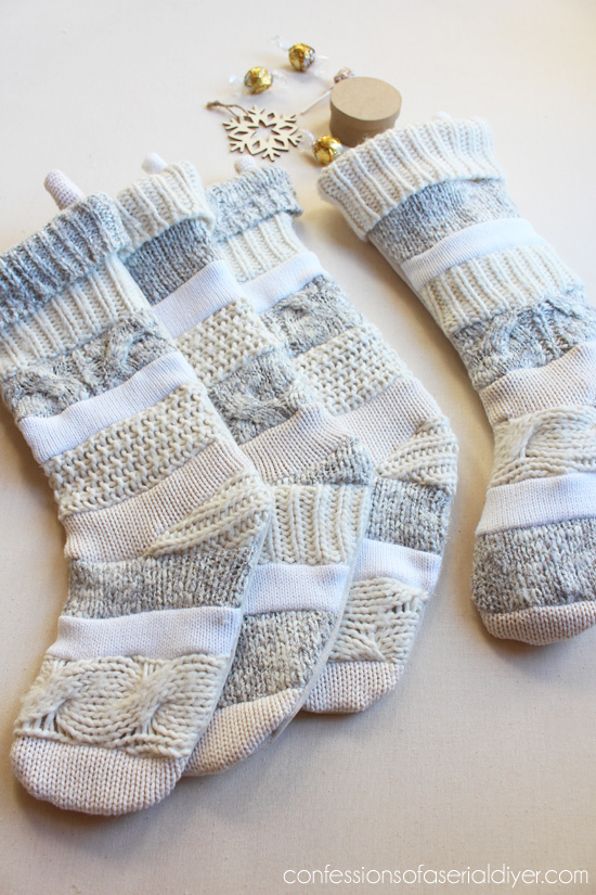 DIY Sweater Stockings (Anthropologie-Inspired) | Confessions of a Serial DIYer