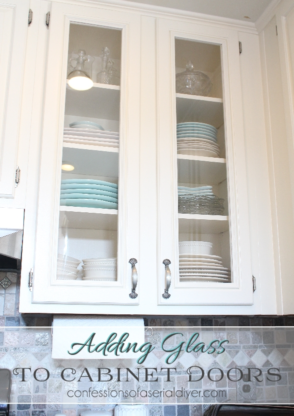 How to add glass to raised-panel cabinet doors