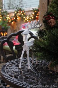 Our Christmas Courtyard {And Why it's so Special}