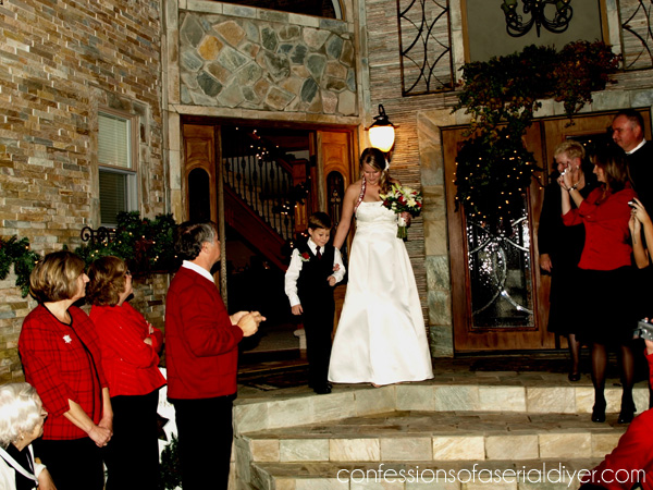 Christmas Courtyard Wedding